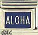 Aloha on Dark Blue