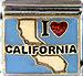 I Love California on Light Blue