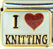 I Love Knitting on White